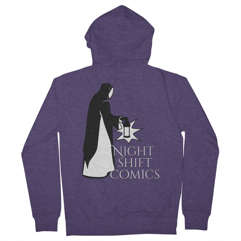 Night Shift Comics Logo Men's French Terry Zip-Up Hoody by Night Shift Comics Shop