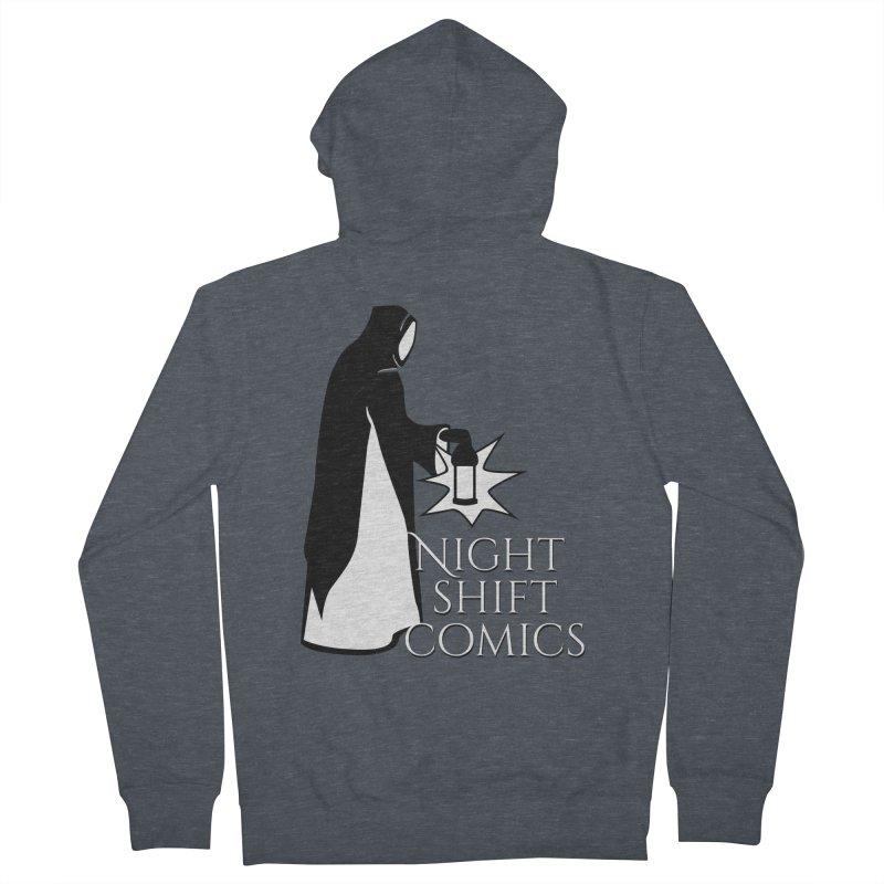 Night Shift Comics Logo Men's French Terry Zip-Up Hoody by Night Shift Comics Shop