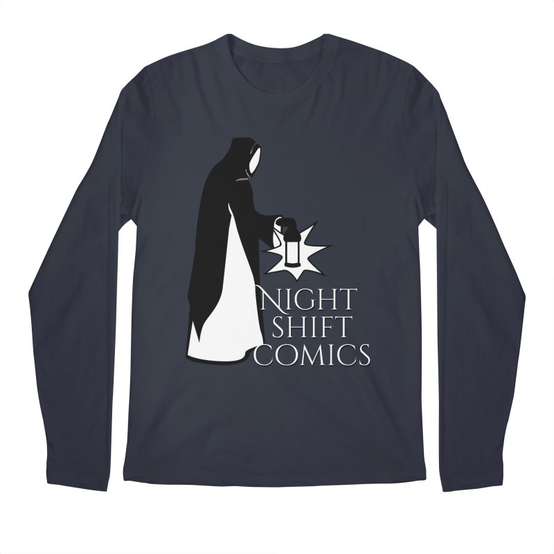 Night Shift Comics Logo Men's Regular Longsleeve T-Shirt by Night Shift Comics Shop