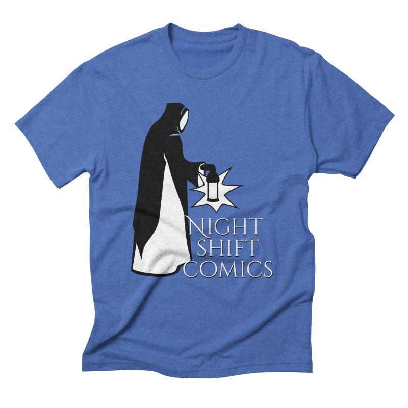 Night Shift Comics Logo Men's Triblend T-Shirt by Night Shift Comics Shop