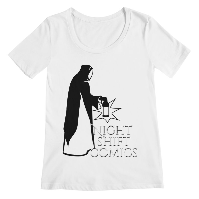 Night Shift Comics Logo Women's Regular Scoop Neck by Night Shift Comics Shop