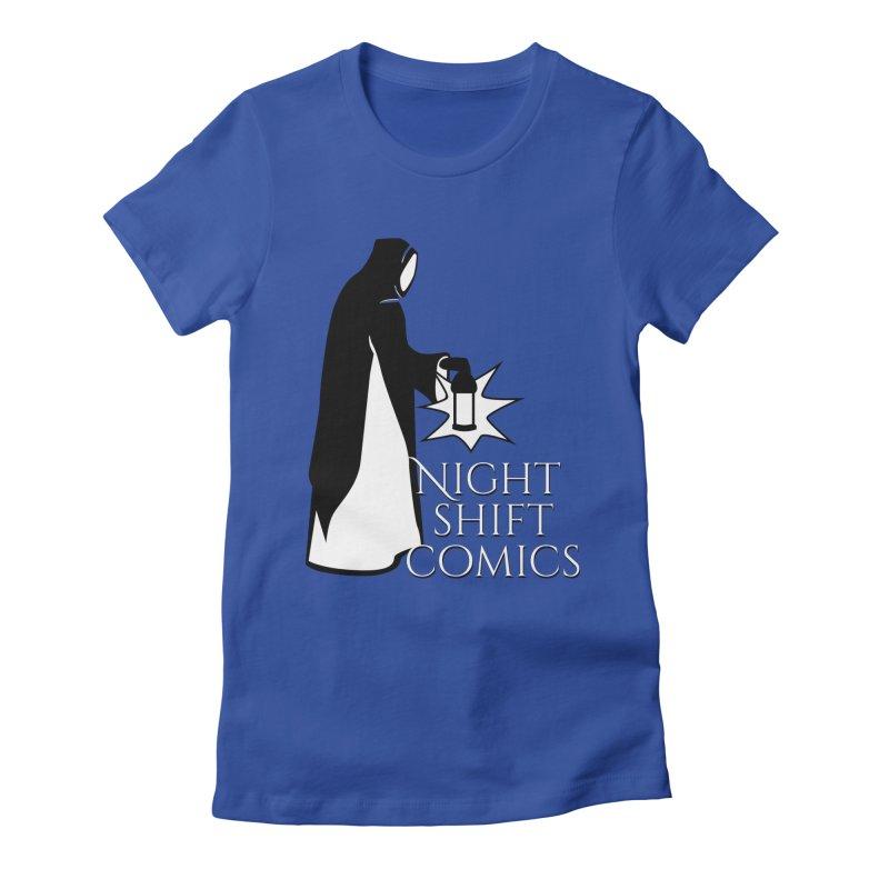 Night Shift Comics Logo Women's Fitted T-Shirt by Night Shift Comics Shop