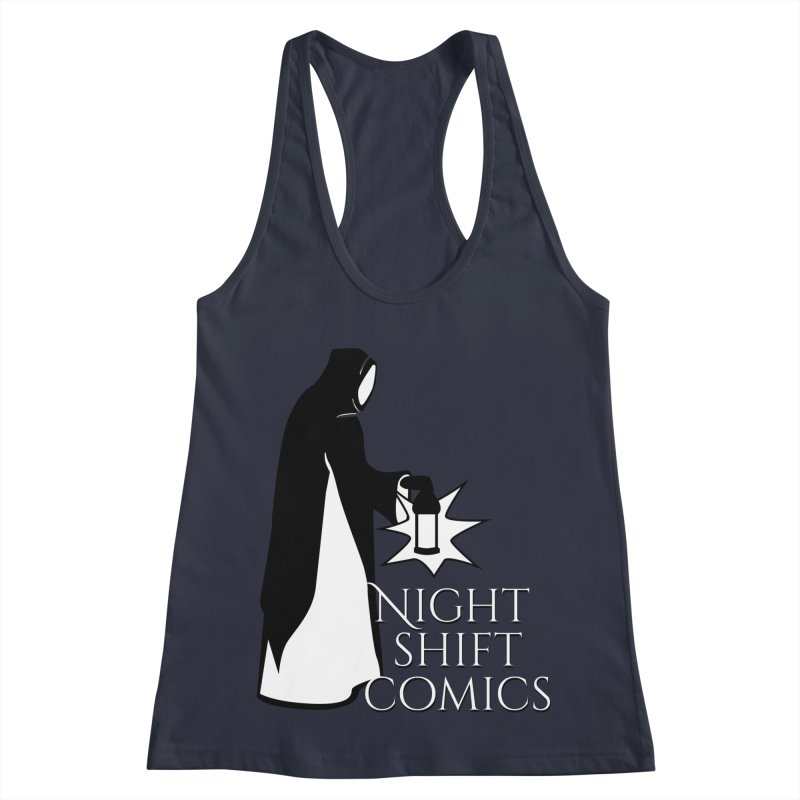Night Shift Comics Logo Women's Racerback Tank by Night Shift Comics Shop