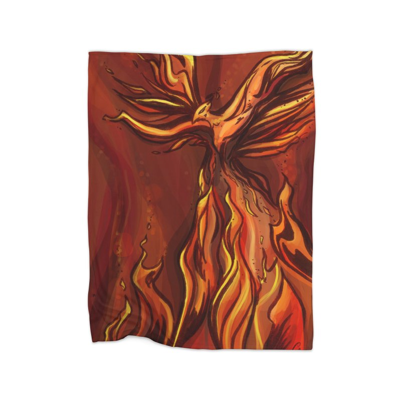 Phoenix Home Fleece Blanket Blanket by Night Shift Comics Shop