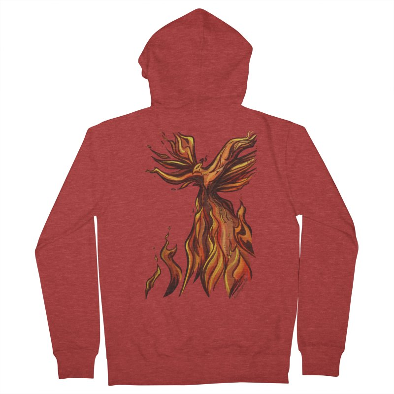 Phoenix Men's French Terry Zip-Up Hoody by Night Shift Comics Shop