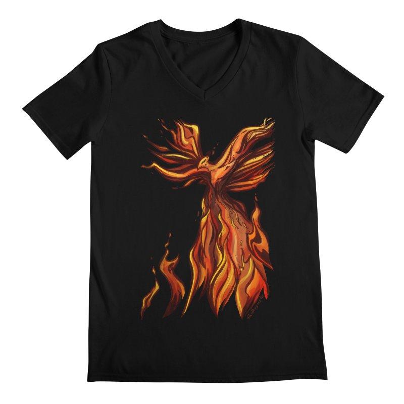 Phoenix Men's Regular V-Neck by Night Shift Comics Shop