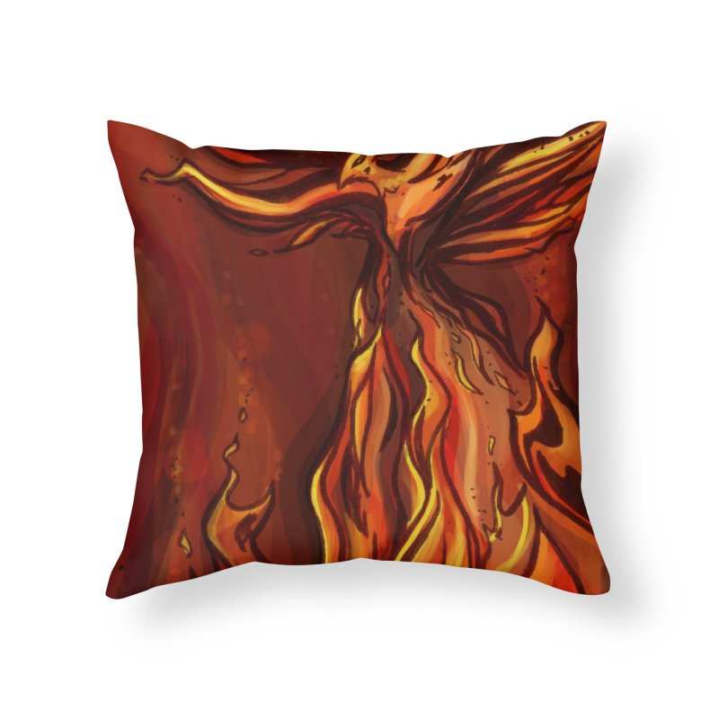 Phoenix Home Throw Pillow by Night Shift Comics Shop