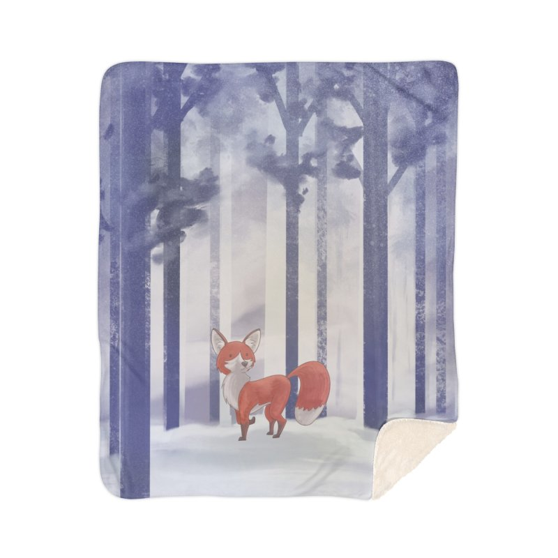 Winter Fox Home Blanket by Night Shift Comics Shop