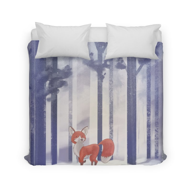 Winter Fox Home Duvet by Night Shift Comics Shop