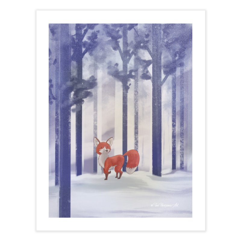 Winter Fox Home Fine Art Print by Night Shift Comics Shop
