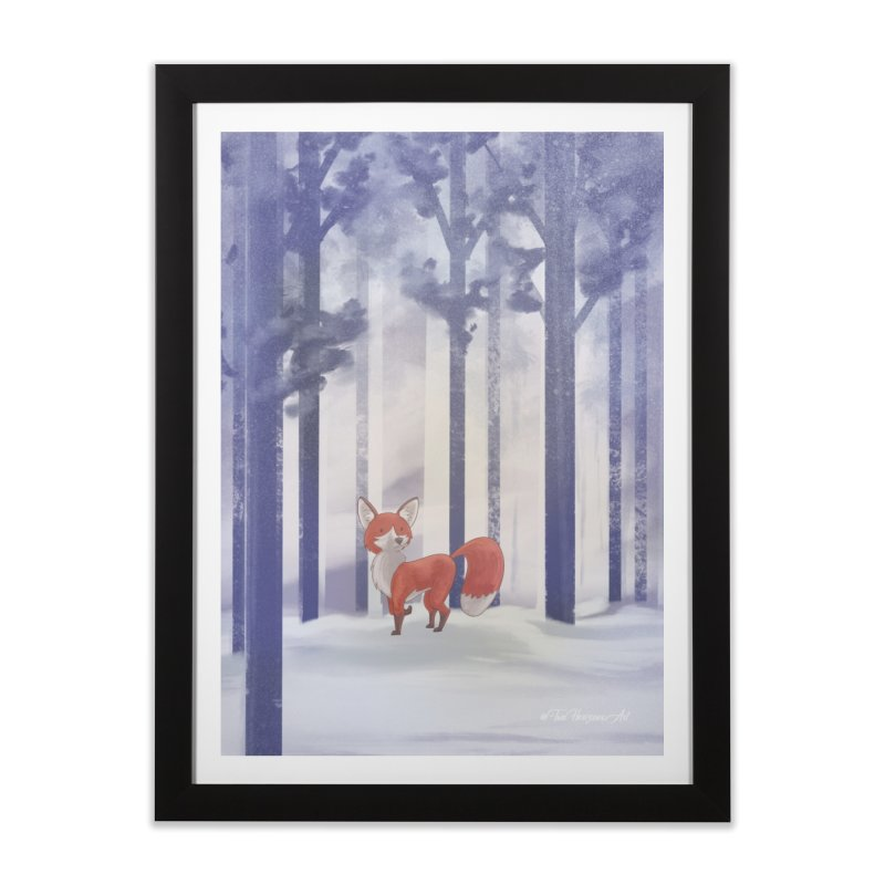 Winter Fox Home Framed Fine Art Print by Night Shift Comics Shop