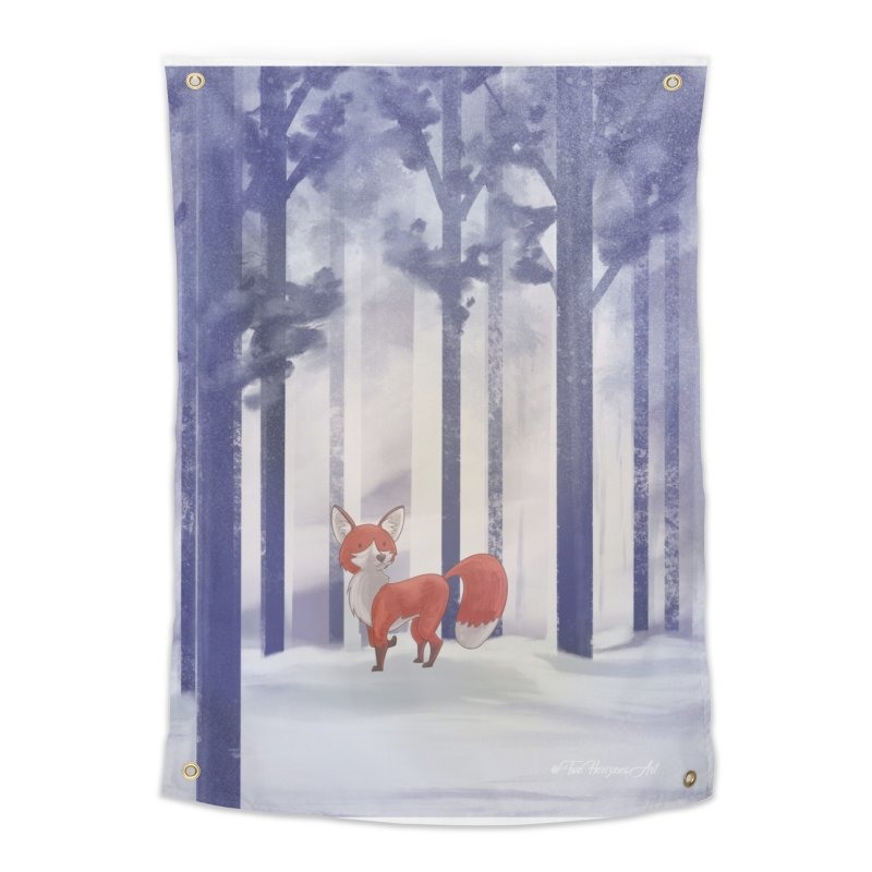 Winter Fox Home Tapestry by Night Shift Comics Shop