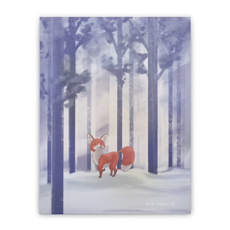 Winter Fox Home Stretched Canvas by Night Shift Comics Shop