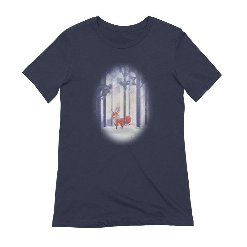 Winter Fox Women's Extra Soft T-Shirt by Night Shift Comics Shop