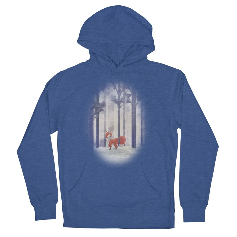 Winter Fox Men's French Terry Pullover Hoody by Night Shift Comics Shop