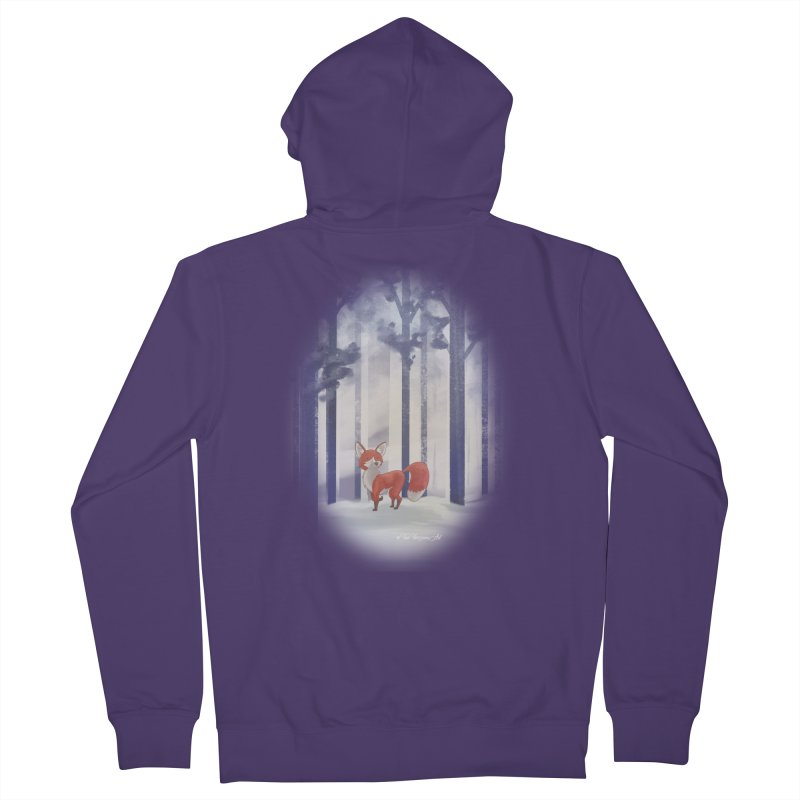Winter Fox Women's French Terry Zip-Up Hoody by Night Shift Comics Shop