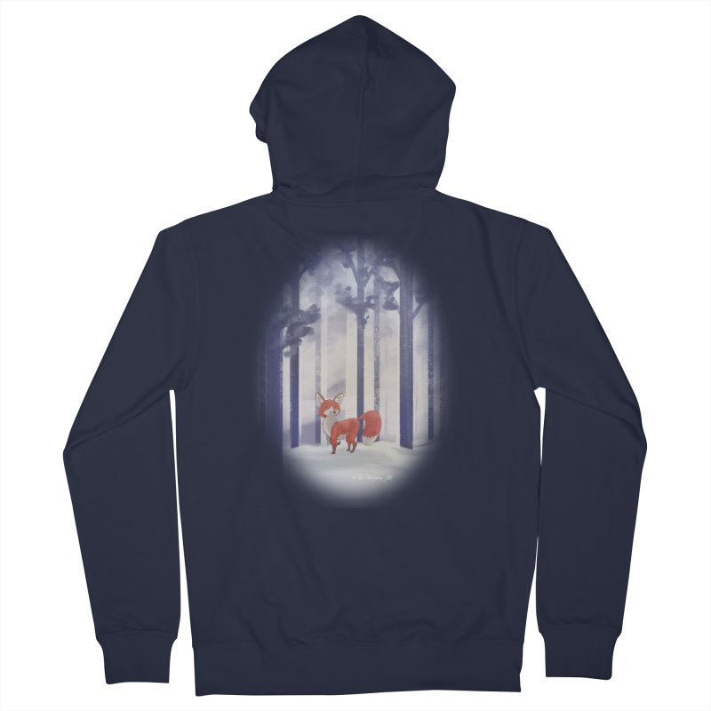 Winter Fox Men's French Terry Zip-Up Hoody by Night Shift Comics Shop