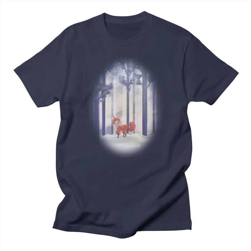 Winter Fox Men's Regular T-Shirt by Night Shift Comics Shop