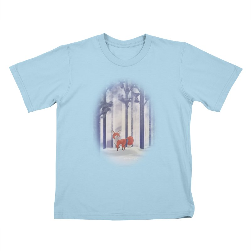 Winter Fox Kids T-Shirt by Night Shift Comics Shop