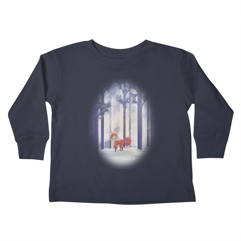 Winter Fox Kids Toddler Longsleeve T-Shirt by Night Shift Comics Shop