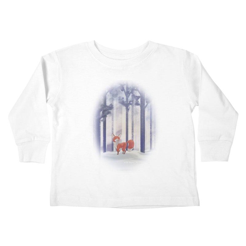 Winter Fox Kids Toddler Longsleeve T-Shirt by Night Shift Comics Shop