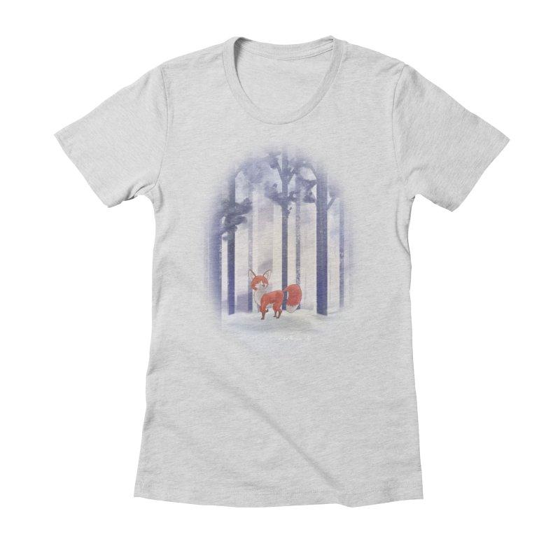 Winter Fox Women's Fitted T-Shirt by Night Shift Comics Shop