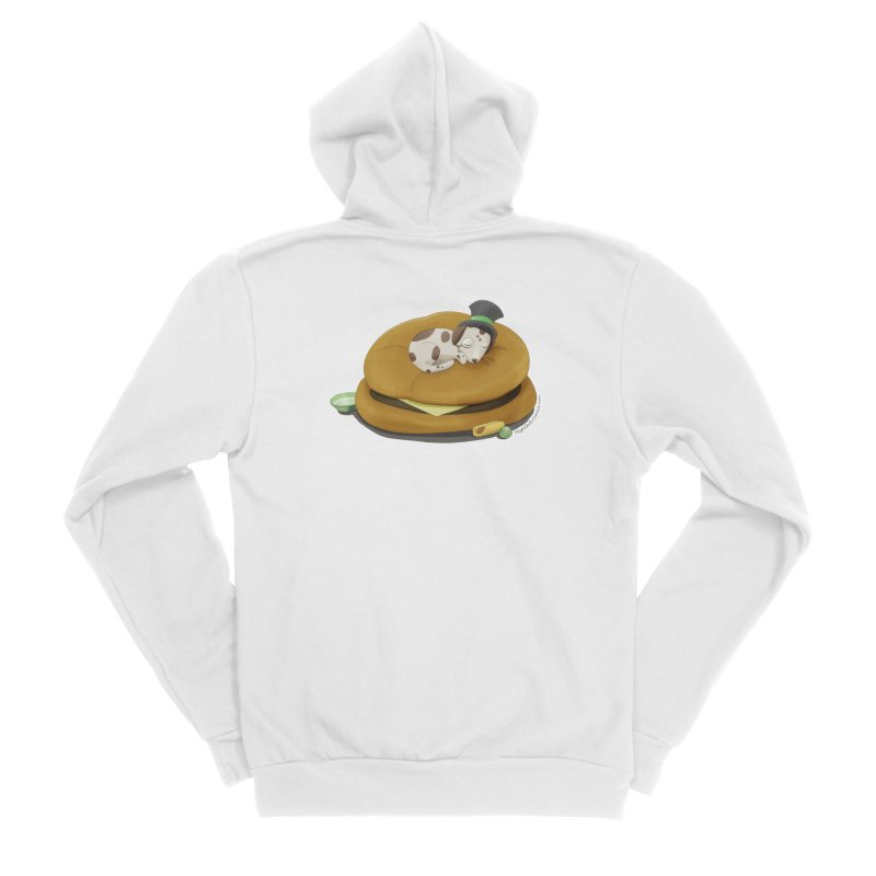 Puppy on a Burger Bed Men's Zip-Up Hoody by Night Shift Comics Shop