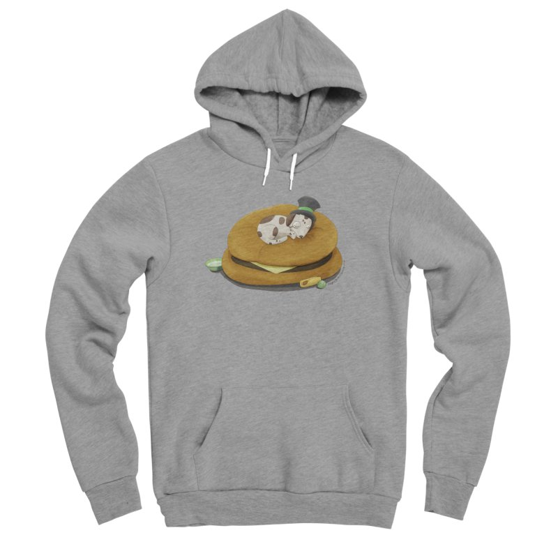 Puppy on a Burger Bed Women's Sponge Fleece Pullover Hoody by Night Shift Comics Shop