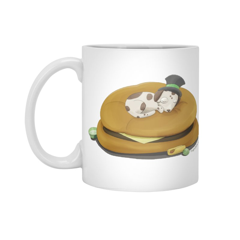 Puppy on a Burger Bed Accessories Standard Mug by Night Shift Comics Shop