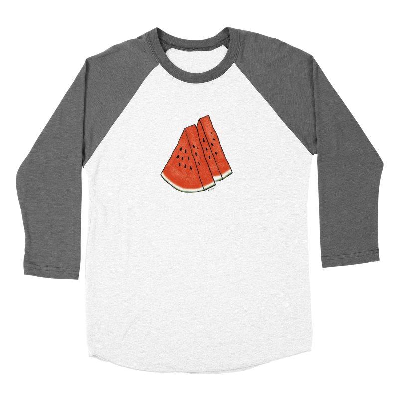 suika Women's Baseball Triblend T-Shirt by Nihongo Flashcards Shop
