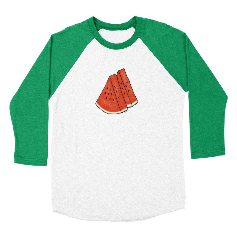 suika Women's Baseball Triblend Longsleeve T-Shirt by Nihongo Flashcards Shop