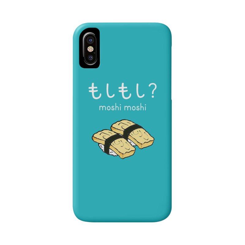 moshi moshi - tamago Accessories Phone Case by Nihongo Flashcards Shop
