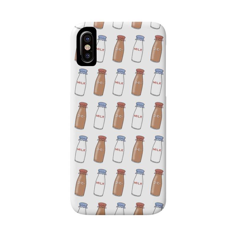 moshi moshi - milk Accessories Phone Case by Nihongo Flashcards Shop