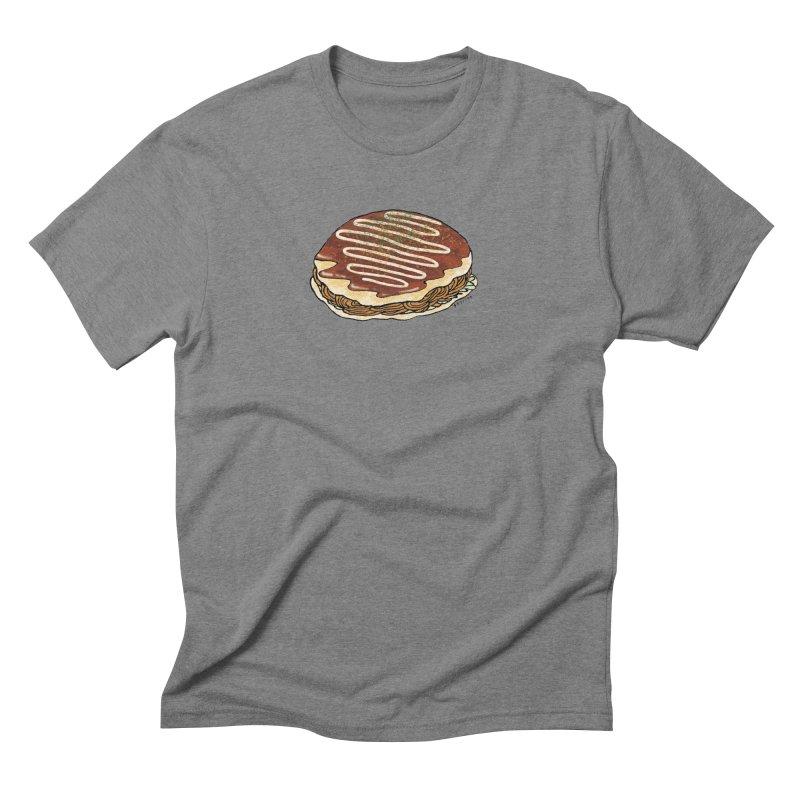 okonomiyaki Men's Triblend T-Shirt by Nihongo Flashcards Shop