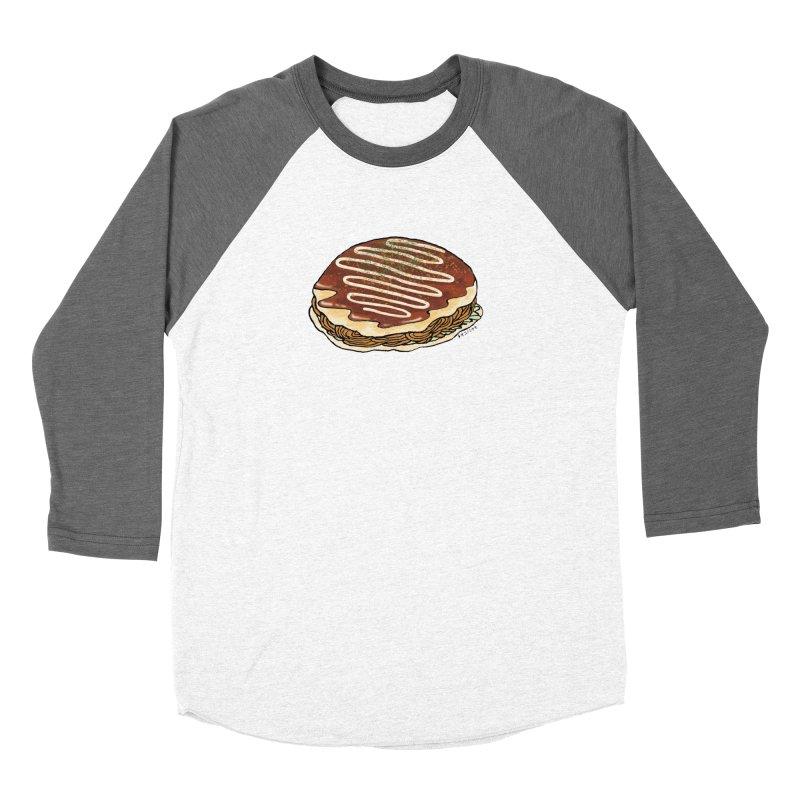 okonomiyaki Men's Baseball Triblend T-Shirt by Nihongo Flashcards Shop