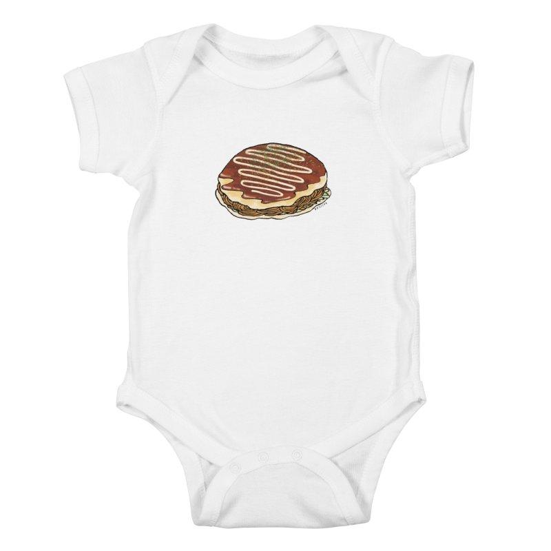 okonomiyaki Kids Baby Bodysuit by Nihongo Flashcards Shop