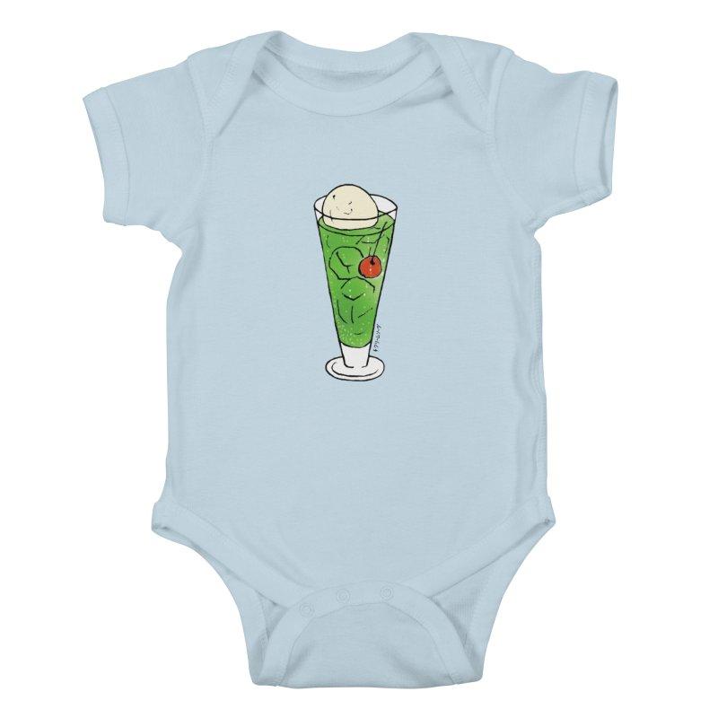 cream soda Kids Baby Bodysuit by Nihongo Flashcards Shop