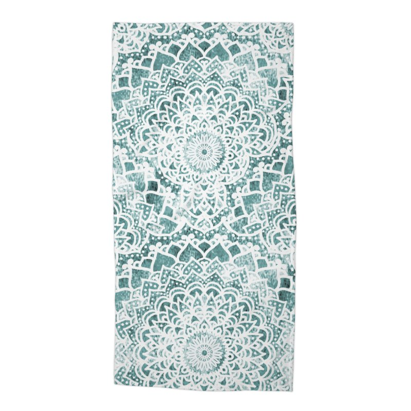 ACQUA FESTIVAL MANDALAS Accessories Beach Towel by nika's Artist Shop