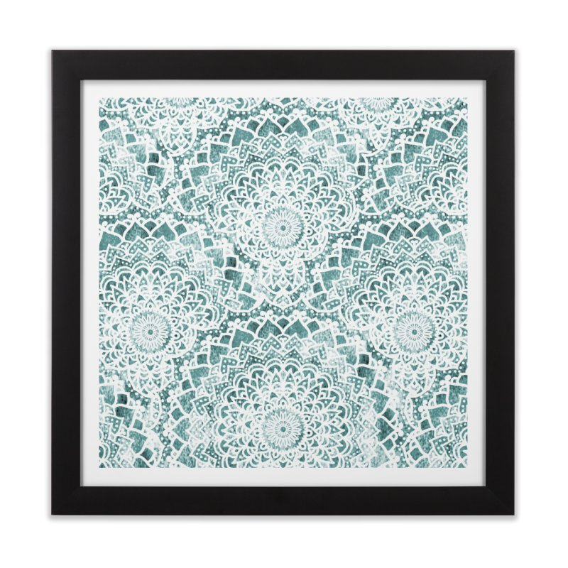 ACQUA FESTIVAL MANDALAS Home Framed Fine Art Print by nika's Artist Shop