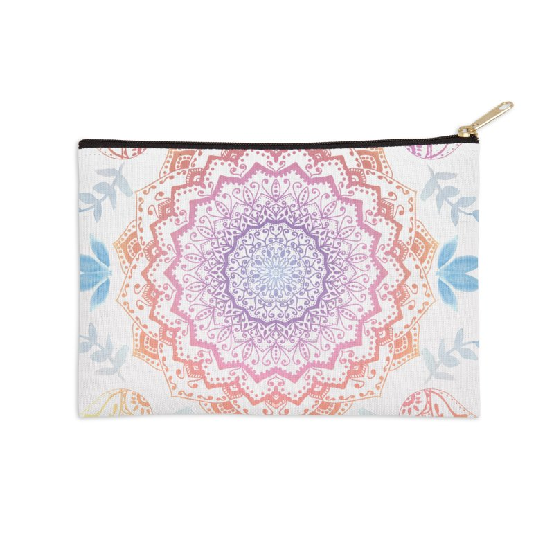 BOHO HAMSA MANDALA Accessories Zip Pouch by nika's Artist Shop