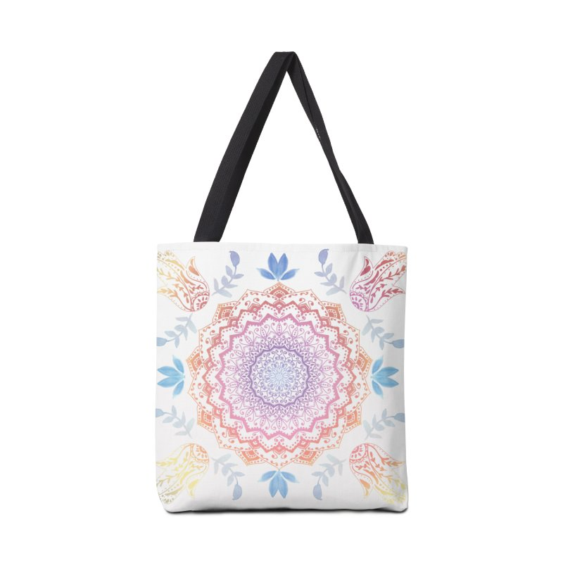 BOHO HAMSA MANDALA Accessories Bag by nika's Artist Shop