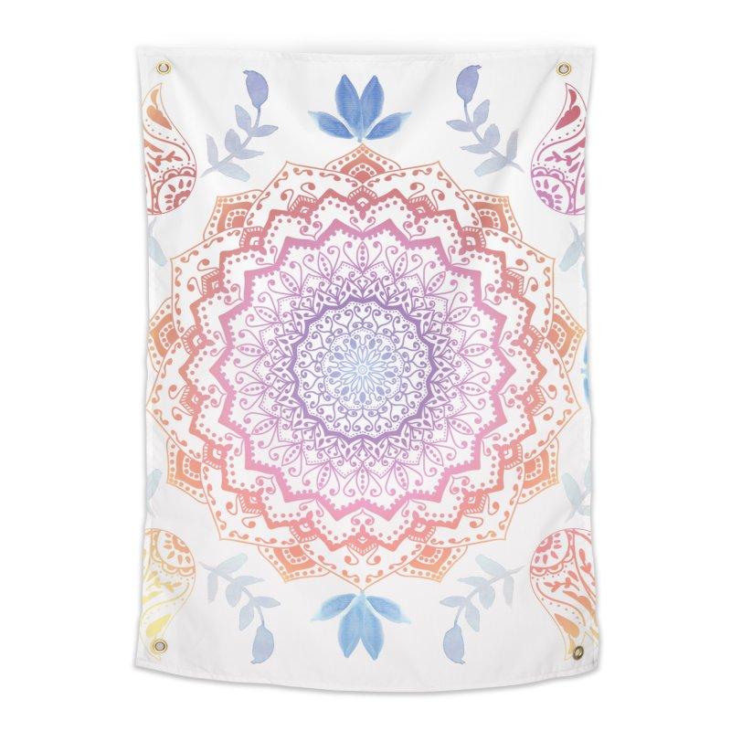 BOHO HAMSA MANDALA Home Tapestry by nika's Artist Shop