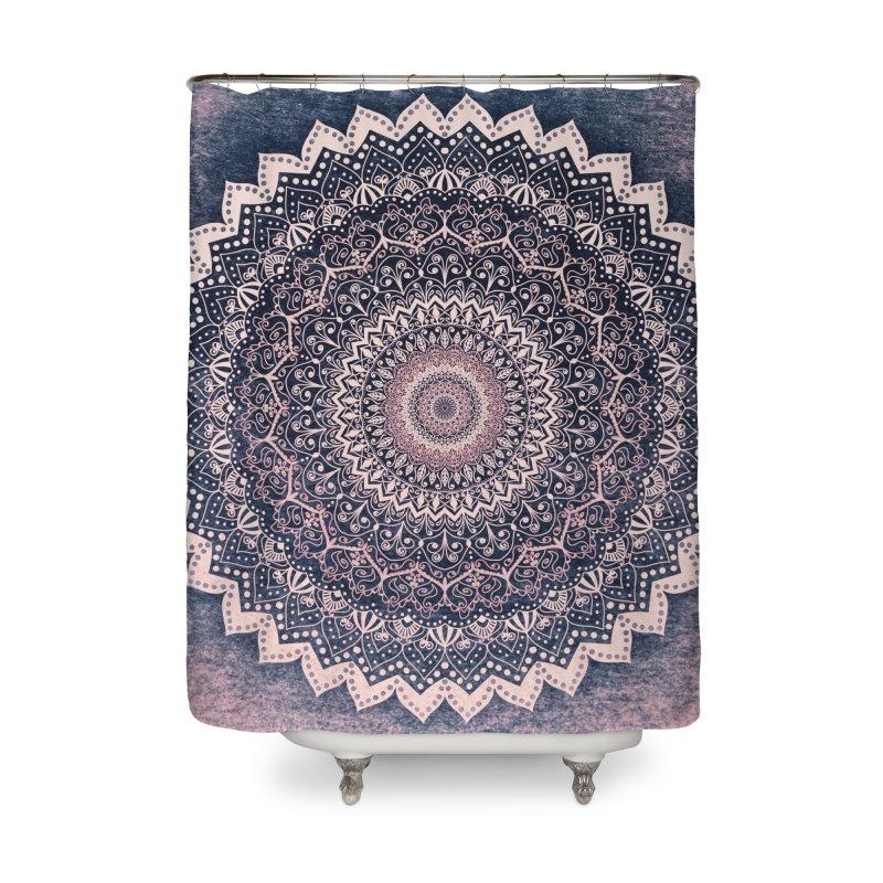 WARM PURPLE MANDALA Home Shower Curtain by nika's Artist Shop