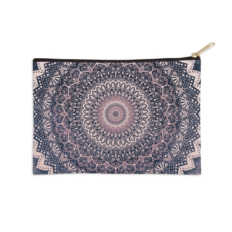 WARM PURPLE MANDALA Accessories Zip Pouch by nika's Artist Shop