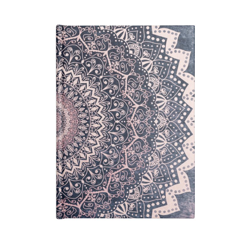 WARM PURPLE MANDALA Accessories Notebook by nika's Artist Shop