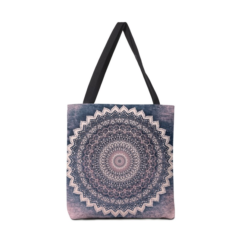 WARM PURPLE MANDALA Accessories Bag by nika's Artist Shop