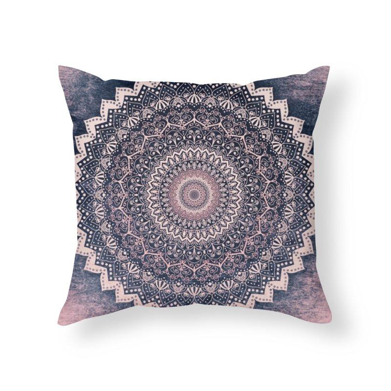 WARM PURPLE MANDALA Home Throw Pillow by nika's Artist Shop