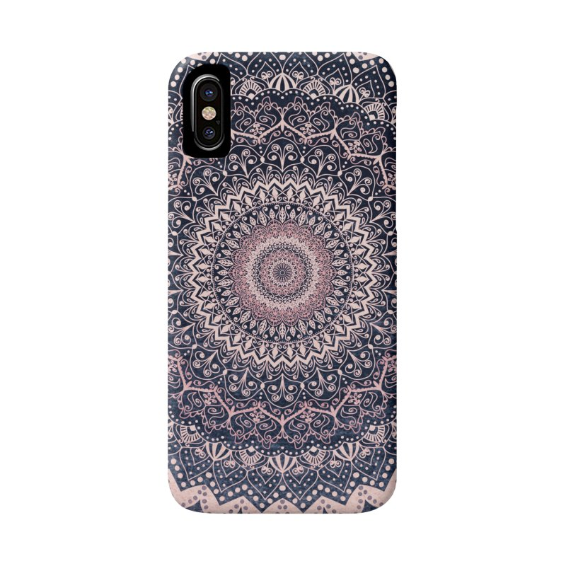 WARM PURPLE MANDALA Accessories Phone Case by nika's Artist Shop