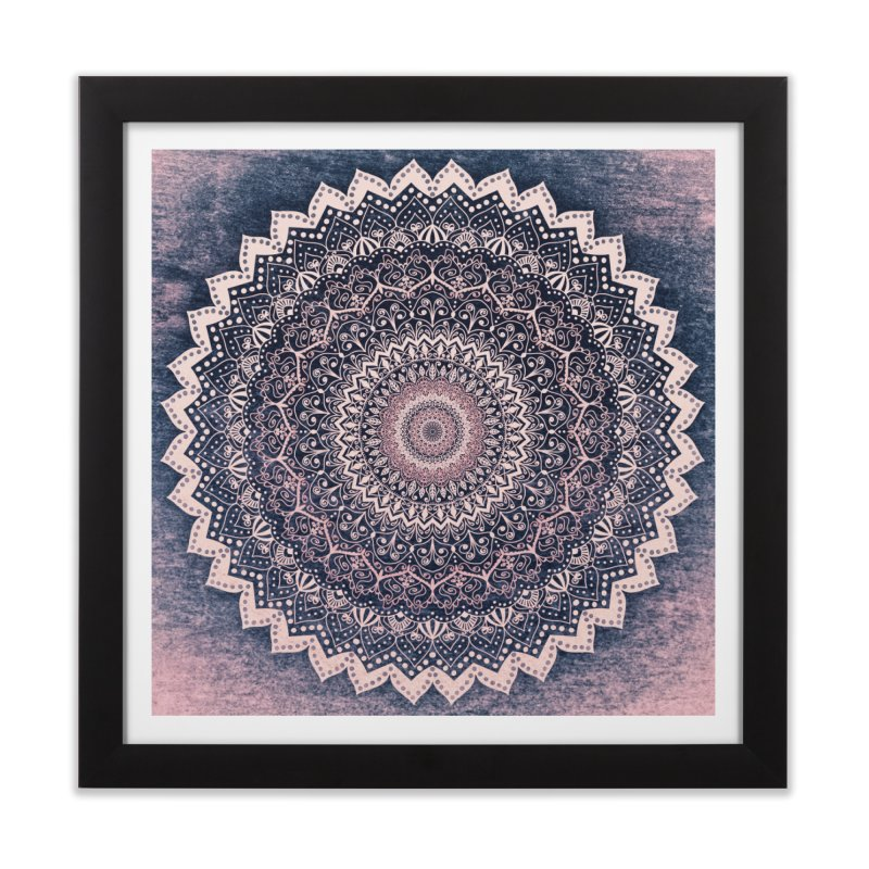 WARM PURPLE MANDALA Home Framed Fine Art Print by nika's Artist Shop