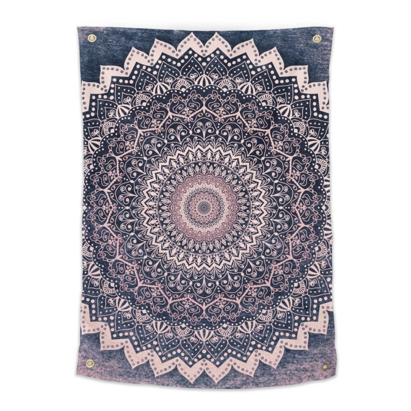 WARM PURPLE MANDALA Home Tapestry by nika's Artist Shop